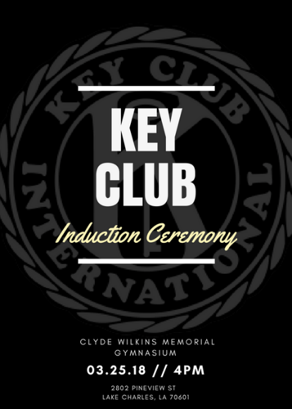 washington-marion high school key club induction ceremony