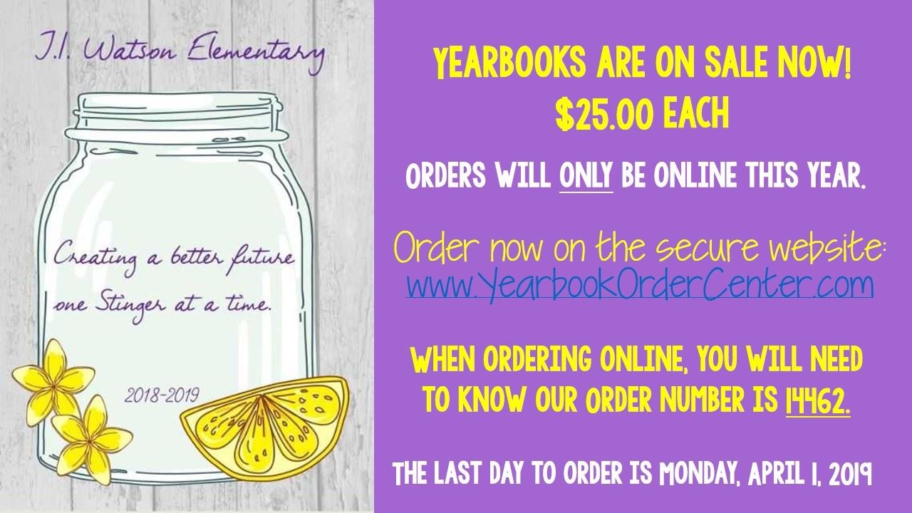 YEARBOOK ARE ON SALE!
