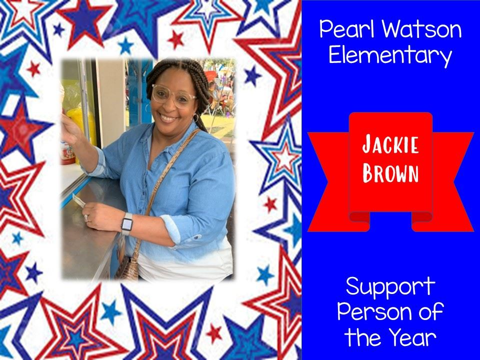 Support Person of the Year - Mrs. Jackie Brown