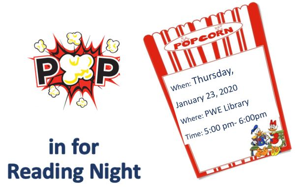 Join Us for Family Reading Night 1/23/20
