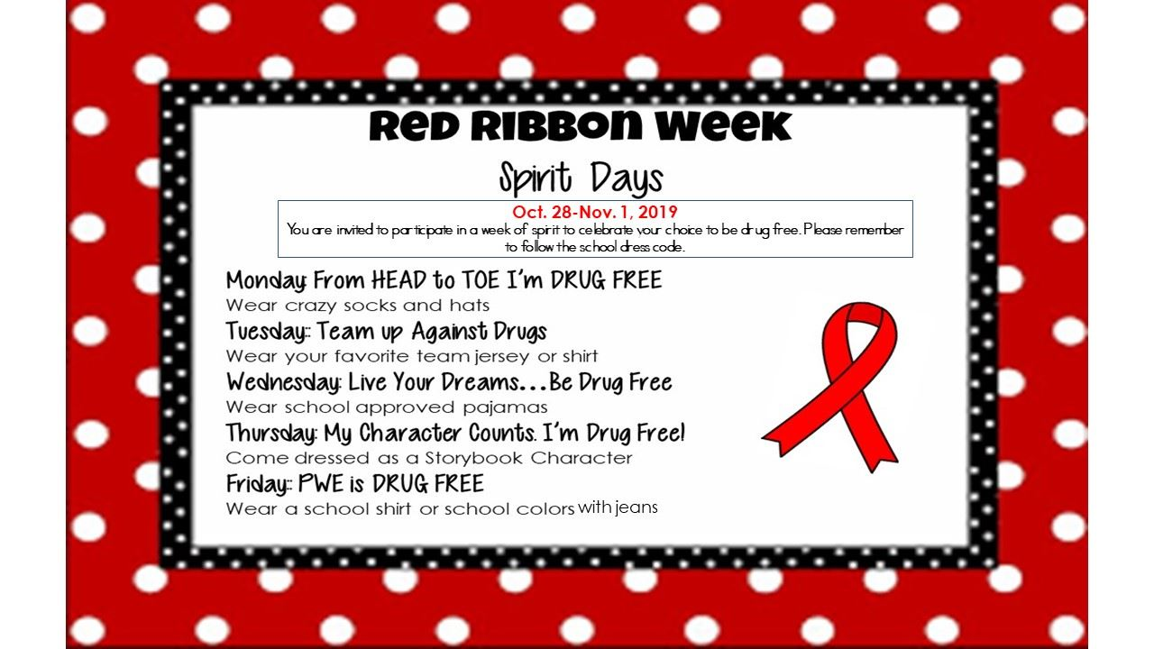 Red Ribbon Week (10/28-11/1)
