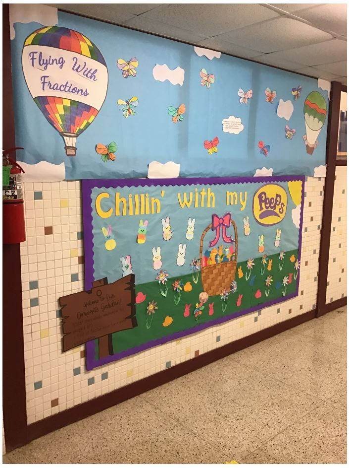 """Spring is in the Air"" Bulletin Board Contest Winner: Mr. Raymond Swalley, 4th Grade Teacher"