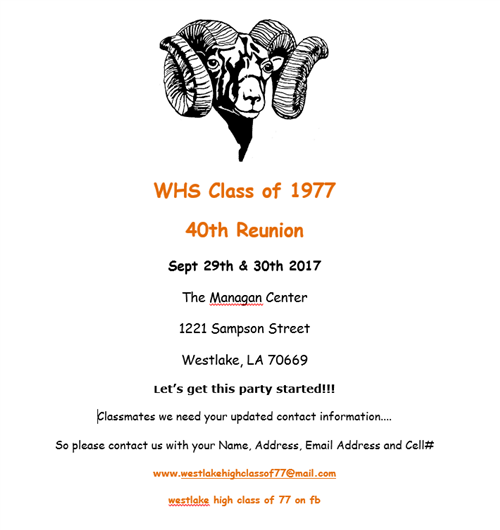 WHS Class of 1977