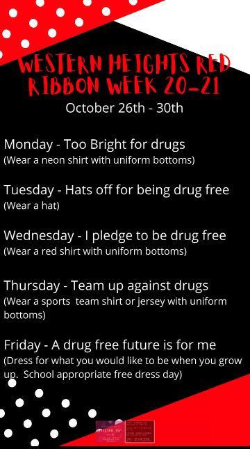 Red Ribbon Week October 26th - October 30th