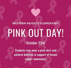 Pink Out Day Friday, October 23