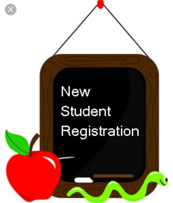 New Student Registration August 1, 2018 9:00-1:00