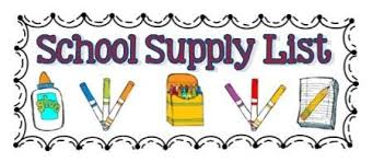 2020-2021 Westwood Elementary Supply List