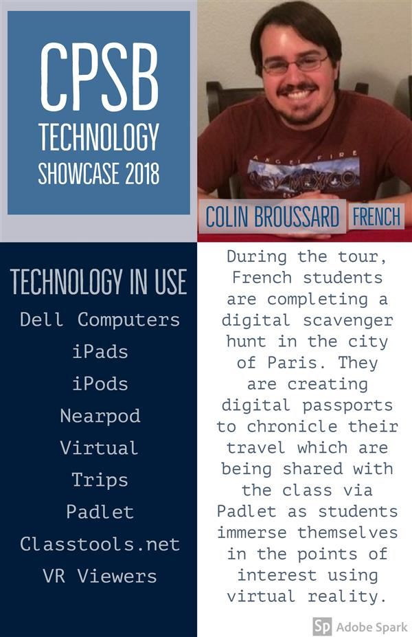 Colin Broussard Tech Showcase Poster