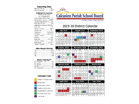 2017-2018 District Calendar