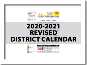 CPSB 2020-2021 REVISED Calendar is Now Available