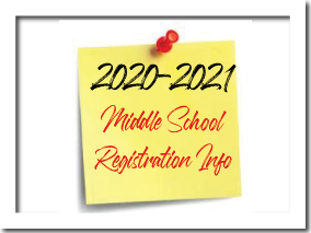Middle School Registration Information