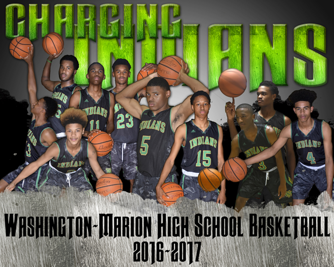 Washington-Marion 2016-2017 Boys Basketball Team
