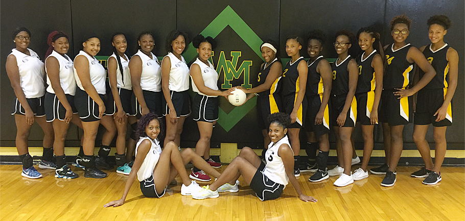Washington-Marion Lady Charging Indians Volleyball Team
