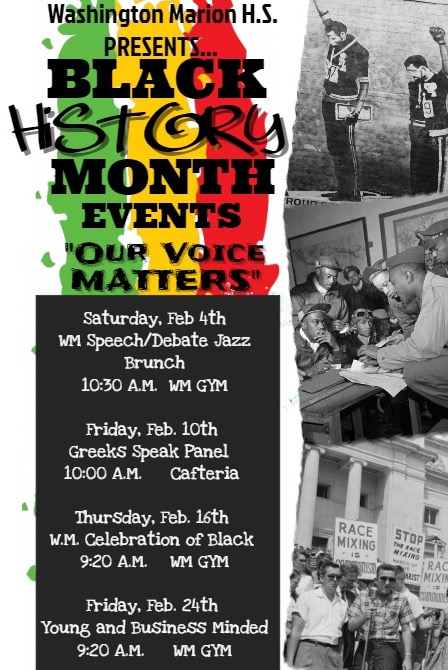 Washington-Marion Black History Month Events